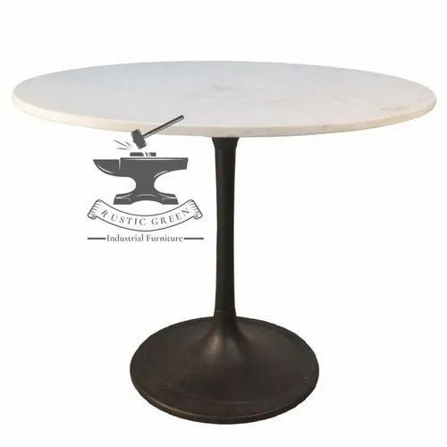 White Round Marble Top Cafe Table For, 48 Round Marble Table Top
