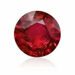 Red Round Ruby Gemstone, Packaging Type: Packet