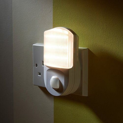 Plug In Motion Sensor Night Light Motion Activated Led