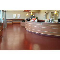 Corporate Building And Health Care Centre 5300 Sq Ft Solid Epoxy Flooring Service