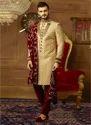 Banarasi Art Silk Wedding Grooms Sherwani, Size: 32-44