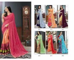 Andri silk Georgette Noor 2 Saree, With blouse piece