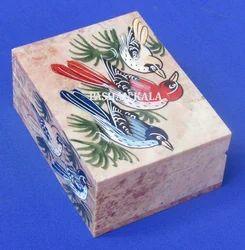 Soapstone Painted Jewelry Box