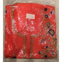 Ladies Red Unstitched Fancy Embroidery Suit