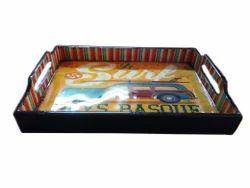 Vm, Handicraft Meena Meenakari Serving Tray, Size: 12x8', Packaging Type: 2, Piece