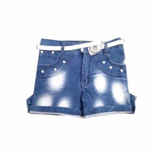 341f89871792e Blue Designer Denim Girl Shorts, Rs 250 /piece, Ritu Collection   ID ...