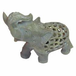 Soapstone Jaali Elephant
