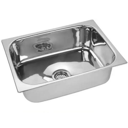 Stainless Steel Single Bowl Top Mount Kitchen Sink Size 22 X 18 X 9 Inch Rs 560 Piece Id 19693059348