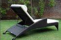 Luxury Poolside Rattan Sun Lounger