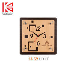 Wooden Wall Clock, Shape: Square