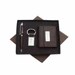Black Brown Leather Gift Set