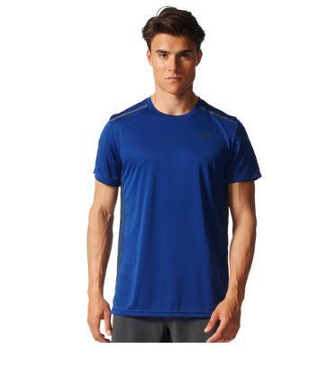 adidas Cool 365 Mens T-Shirt Running Training Short Sleeve Top Blue