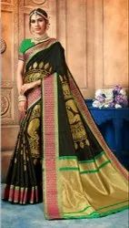 Festive Wear Art Silk Woven Saree, 6.3mtr