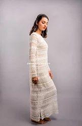 Plain, Printed Cotton & Georgette Ladies Net Dresses