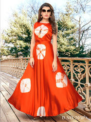 Sibori Printed Long Gown