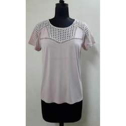 Ladies Half Sleeves Round Neck Top
