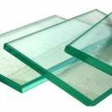 Transparent Float Clear Toughened Glass, Shape: Flat