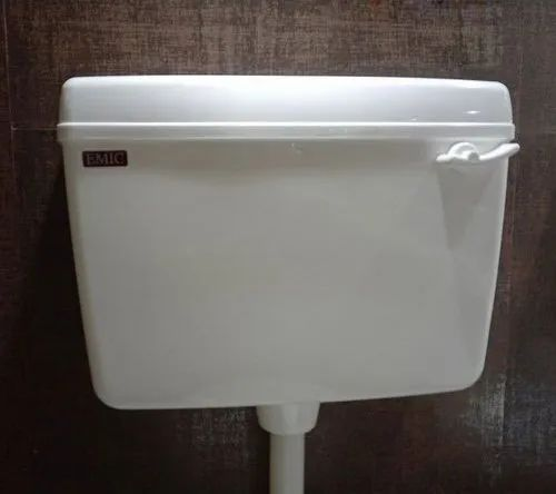 EMIC White Classic Plastic Single Flush Cisterns, For Toilet