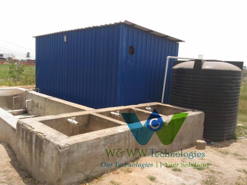 Automatic Sugar Industry Packaged  Effluent Water Treatment Plant