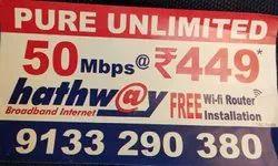 Hathway internet service, Usage Capacity: Unlimited