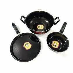 Aluminium Black Nonstick Induction Cookware Set