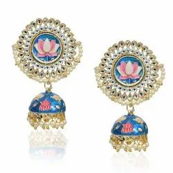 Lotus Jhumki Earrings
