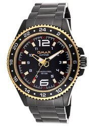 OMAX Analog Black Dial Men''s Black Watch - SS407