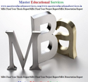 MBA Final Year Project Report Service Provider for Welingkar in  India