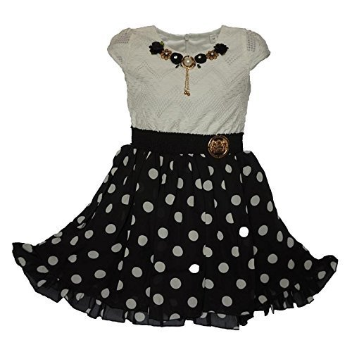 cddaa7911f18 White And Black Imported Girls Party Wear Frock For Girl Age 4 To 15 ...
