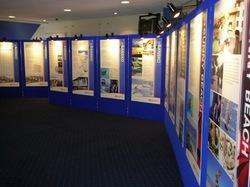Blue Exhibition Panel Display, For Trade Shows And Events, Size: 10 X 7.5 Feet (w X H)