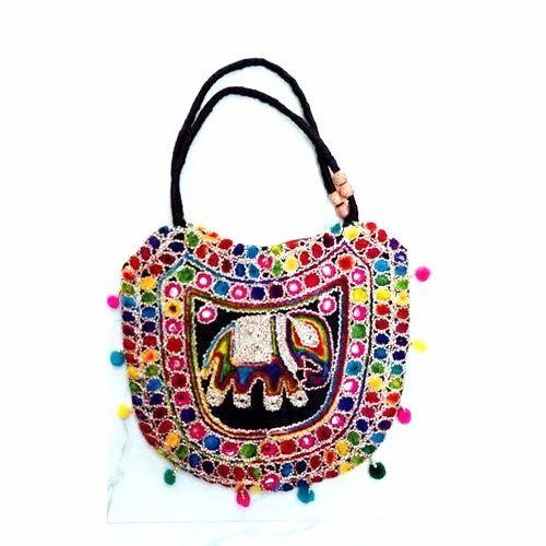 Elephant Print Handicraft Handbag