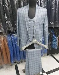 Mens Checks 3 Piece Suite
