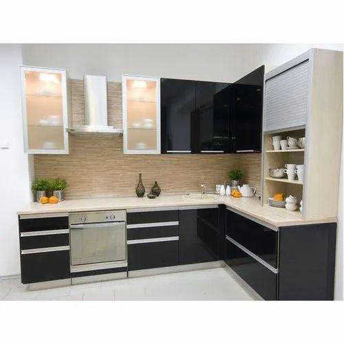 L Shape Aluminium Modular Kitchen, Rs 1600 /square feet JP ...