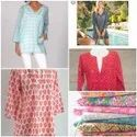 Cotton Y Traditional Hand Printed Garments, Size: Free Size