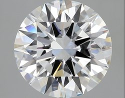 3.02 Ct Gia Certified Round Brilliant Cut Natural Diamond D IF EX EX EX S