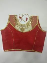 Red Handwork Blouse