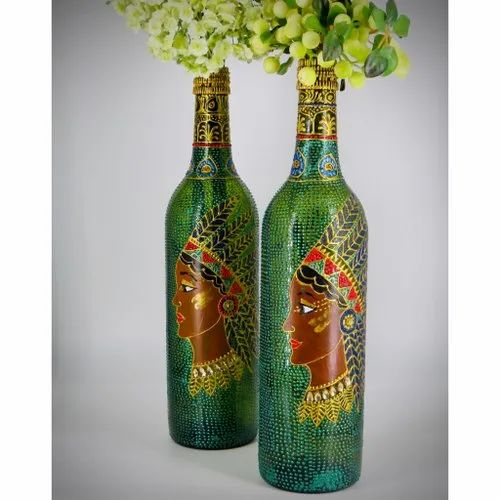 Decorative Bottle Decorative Glass Bottle Lights Bottle Art Manufacturer From Noida