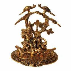 AJN-11 Brass Radha Krishna Statue