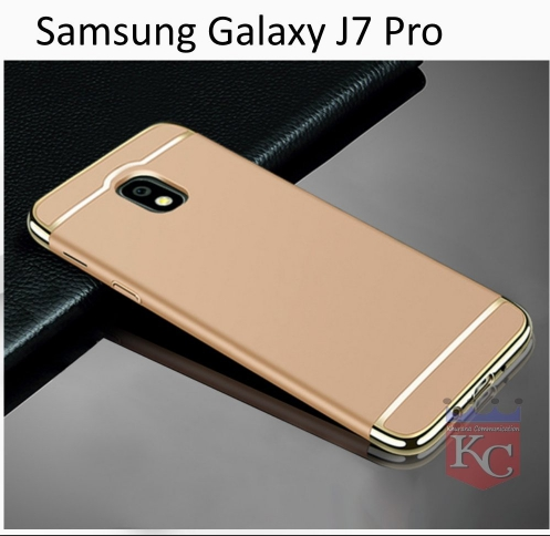 competitive price 681cd 460f9 3 In 1 Ultra Thin Hard Coated Matte Surface Back Cover For Galaxy J7 Pro  Gold