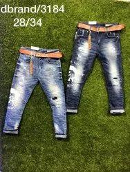 Loose Fit Plain Mens Cotton Jeans