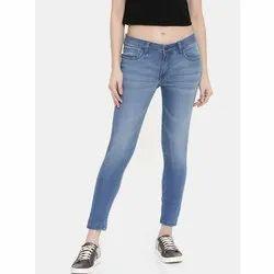 Slim Blue Ladies Denim Jeans, Waist Size: 28 to 36