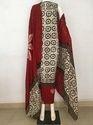 Fk Textile Cotton Wax Batik Salwar Suit, Handwash