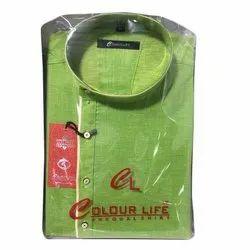 Khadi Party Wear Mens Designer Kurta, Size: 36-42, Handwash