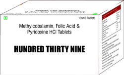 Methylcobalamin Folic Acid & Pyridoxine HCL Tablets