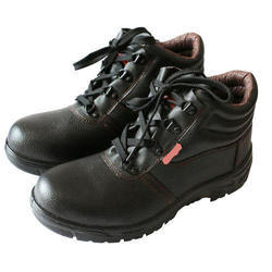 Leather Lace Up Safety Shoes, Packaging Type: Box