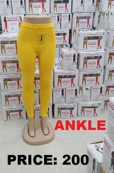 Cotton Yellow Lexie Pranjal Leggings