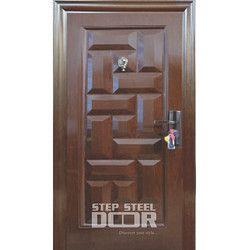 Steel Wooden Finished Single Doors
