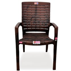 Avro Roma Brown Heavy Duty Plastic Arm Chair, Weight: 4 Kg