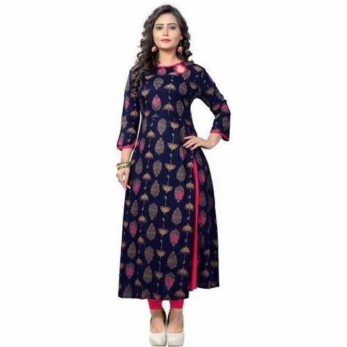 Cotton Casual Wear Ladies Designer Kurtis