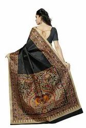 Wedding Wear Printed Sarees With Blouse Piece